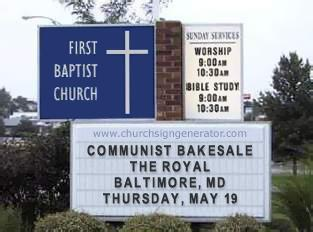 communist bakesale at the royal