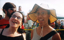 Jackie and Ah-lih-sun at Derby 2001.  And do my damn FIND MAT BOOTY Survey...no one will do as bad as Korinne did.  So far Becca is in the lead!